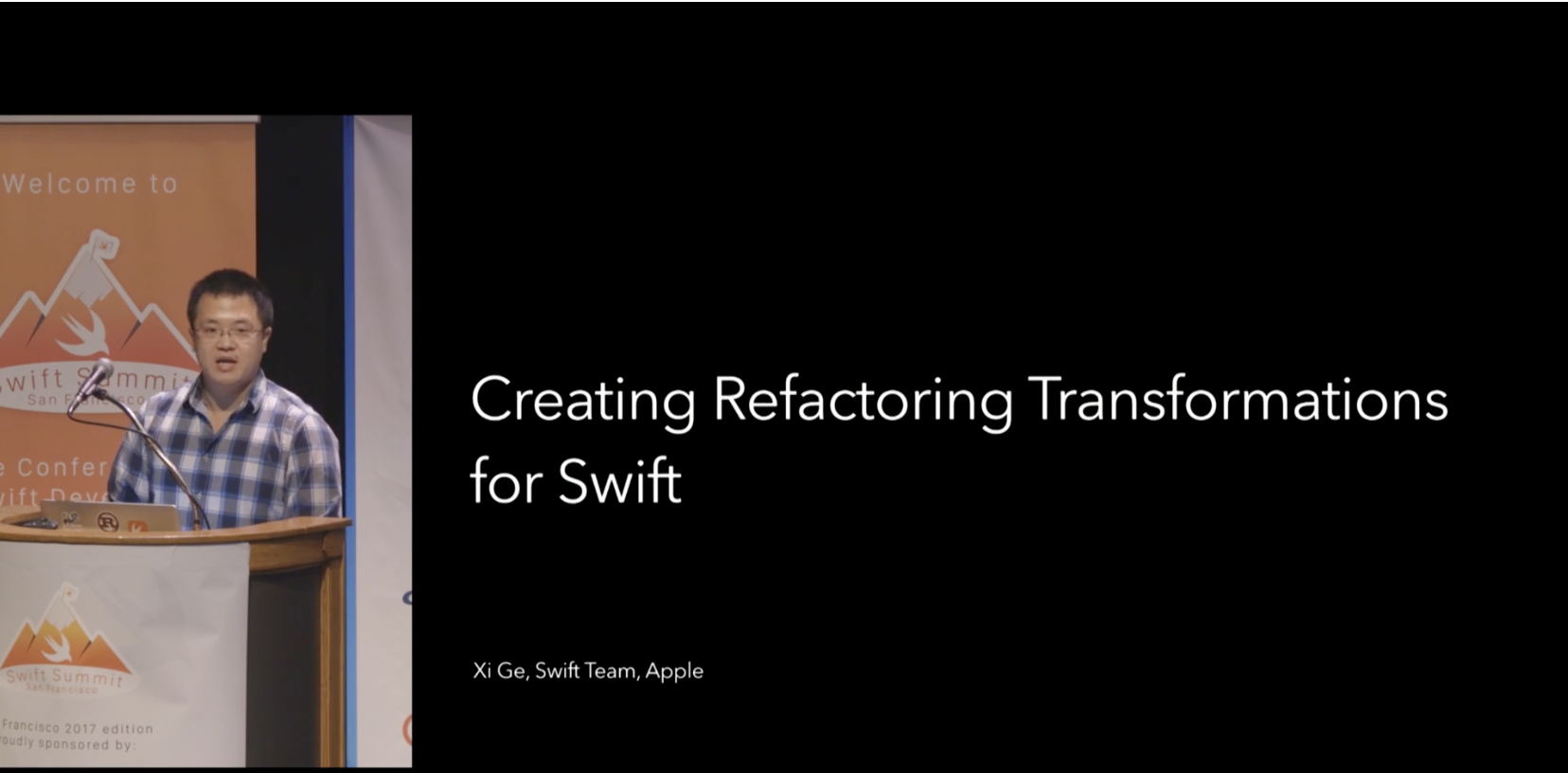 Creating Refactoring Transformations for Swift - Xi Ge